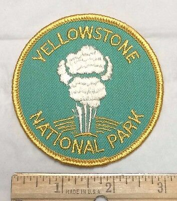 YELLOWSTONE National Park OLD FAITHFUL Geyser Wyoming WY Souvenir Patch