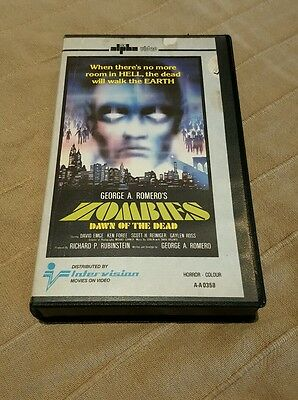 Zombie tape VHS UK dawn of the dead INTERVISION