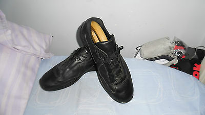 Mens Prada Made In Italy Black Colour Leather Lace-Up Sneakers Size Uk 8