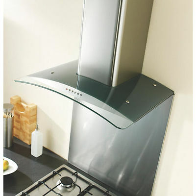 Ghx90Ss Curved Glass Cooker Chimney Hood Stainless Steel 900Mm