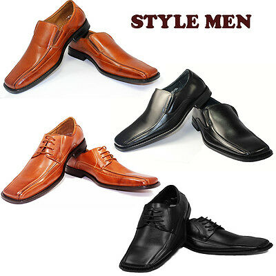 NEW Men's Slip On Loafers Classic Laces Leather Lined Casual Formal Dress Shoe