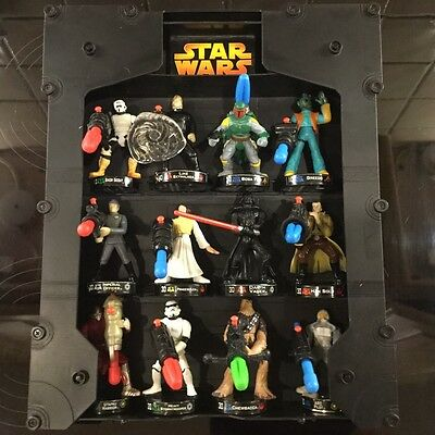 STAR WARS - Attacktix Battle Figure Game and Display Case - Bundle of 12 Figures