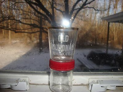 old national whiskey glass