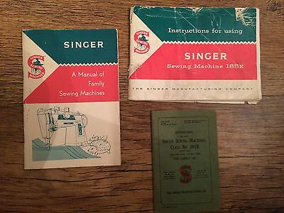 Vintage Singer Sewing Machines Manuels
