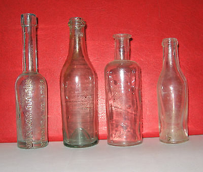 WW1 Original German Bottles 4 pieces.