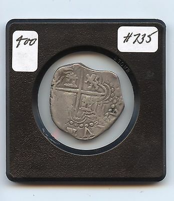 Genuine  2 Reales (#735) 6.8 Grams. Nice Detail and Planchet. Carefu