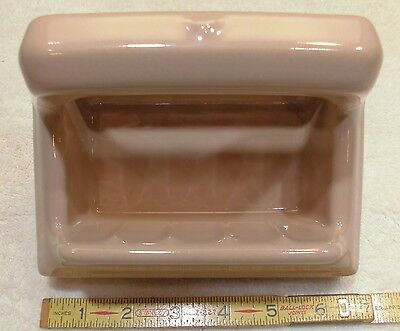 "Vintage…Light Brown...Ceramic Soap Dish with Grab Bar…The Fairfacts Co.  ""NOS"""