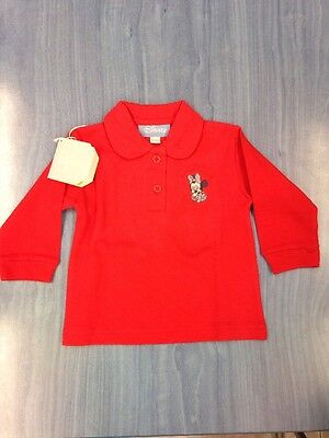DISNEY POLO BRAND NEW BABY GIRL  MINNIE  3 TO 6 Months 100% Cotton  RED