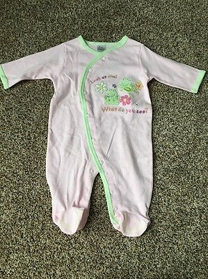 NWOT Baby Essentials Infant Girl Footed Sleeper, Pink, Size 6 M