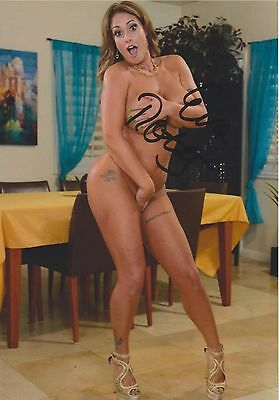 """Eva Notty (Full Nude) """"Porn Star""""  Model of the Year RARE SIGNED RP 8x10"""