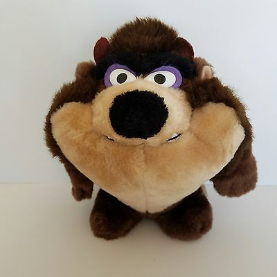 Tasmanian Devil Plush 8 Inch Tall 24K Company 1993 Warner Bros Brown Beige Cute