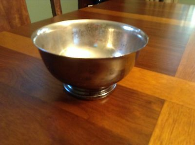 "Silver Plated Pedestal Footed 5"" Bowl/Dish Gorham EP YC778"