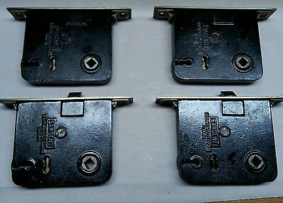 Vintage Sargent mortise locks with key - matching set of four