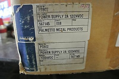 New Schlage Power Supply PS902   2A  12/24 VDC  Enclosed