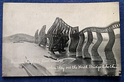Vintage Postcard. The Forth Bridge.