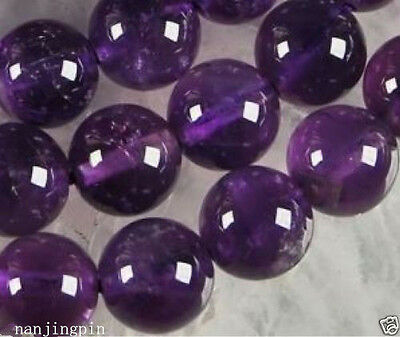 4-12mm Russican Amethyst Gemstone Round Loose Beads 15''