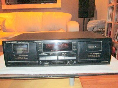 Pioneer CT-W403R HX NR PRO Stereo Dual Cassette Tape Deck Dolby - Nice