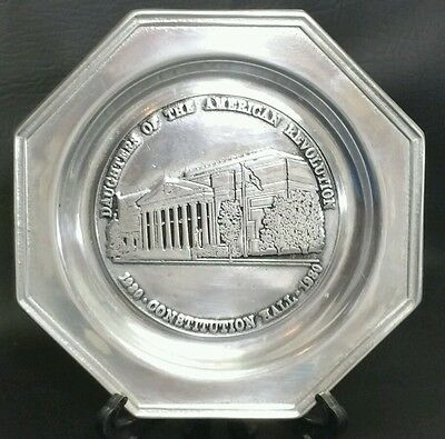 Daughters of the American Revolution Wilton Pewter c.1980 Constitution Hall