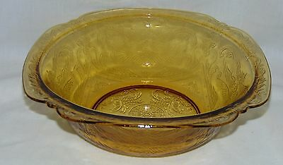 """Federal MADRID* 76 RECOLLECTION* AMBER* 9 3/4"""" ROUND SERVING BOWL*"""