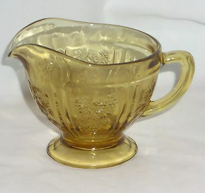 Federal SHARON/CABBAGE ROSE AMBER *CREAMER*