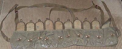 Vintage CHINESE MILITARY 56 AMMO CHEST-RIG BANDOLIER POUCH