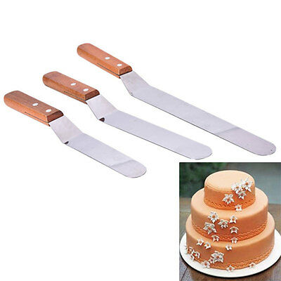Butter Cake Cream Sandwich Spatula Smoother Icing Spread Fondant Pastry Cutter ~