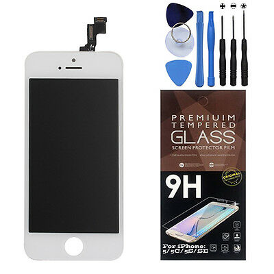 White iPhone SE LCD Replacement Screen Digitizer + Tools