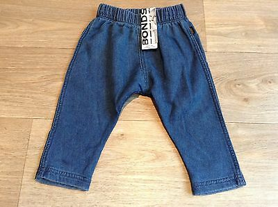 NWT Bonds Baby Blue Soft Terry Denim Relaxed Pants Jeans Size 00/0/2 RRP$29.95