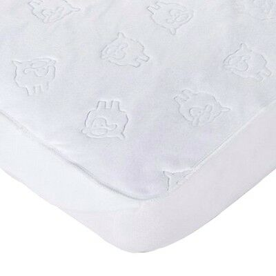 New- (2 Pack) Quilted Fitted Fleece Crib Pad Waterproof Mattress Protector