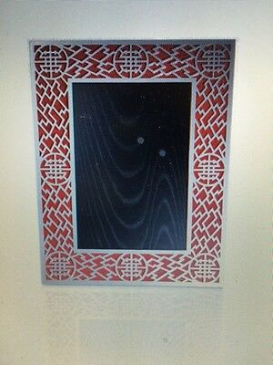 New in Box Shanghai Tang 4R Silver Lattice Photo Frame Collectible