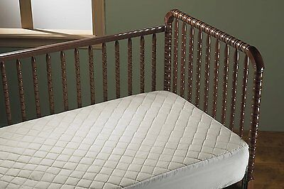 NEW - 100% Natural Cotton Top Waterproof Fitted Crib Pad, Ecru, CHEMICAL FREE