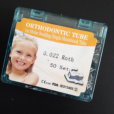 50sets/box Dental orthodontic buccal tube 1st molar non-convertible roth 022