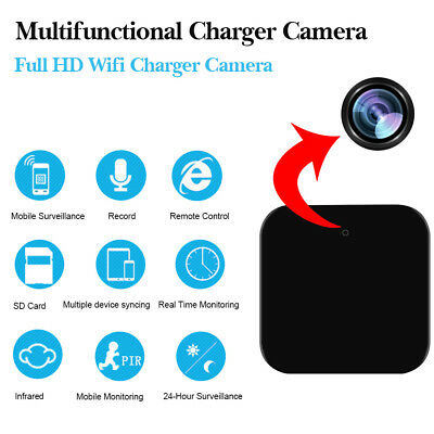 1080P Full HD WIFI IP Wall Charger USB Spy Camera Hidden Mini Motion Detection