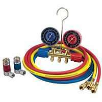 A/C R-134A Manifold Gauge Set with 72' Hose and Couplers