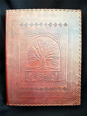 TREE of LIFE - Luxury Handmade Leather A4 Ring Binder or Stamp Album - 3-D-Ring
