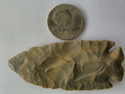 Large Authentic Early Archaic Period BP Greenbrier Type Arrowhead Spearhead