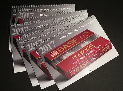 Calendar with cassettes tape, (Basf, Sony, Maxell, TDK) !