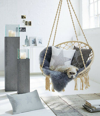 Bed Room Hanging Chair Cushion Rocking Seat Chic Ceiling Furniture Swing Hammock