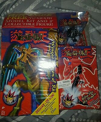 """NIB Yu Gi Oh Winged Dragon of Ra 13"""" Figure Deluxe Model and more YUGIOH"""