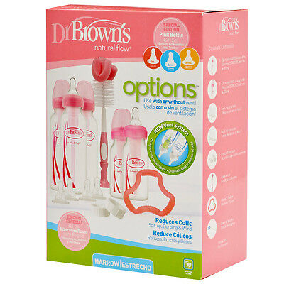 Dr Brown's Options AntiColic Special Edition Pink Baby Bottle Gift Set Dr Browns