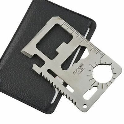 10 PCS EDC 11 in 1 Credit Card Survival Knife Multifunction Multi  Camping Tool