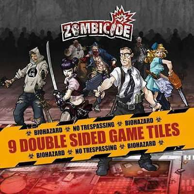 Zombicide: Season 1, 9 Double Sided Game Tiles NIP Accessories Game plan