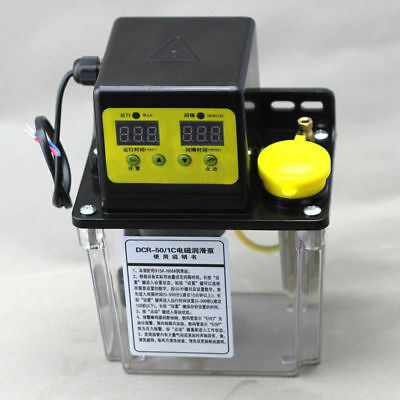 1L Dual Digital Display Automatic Electric Lubrication Pump Oiler NC Pump 220V