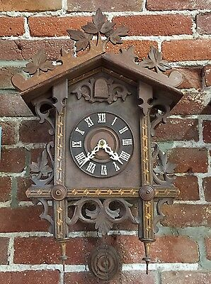 Antique c. 1900's Black Forest Cuckoo Clock Serviced Runs Great