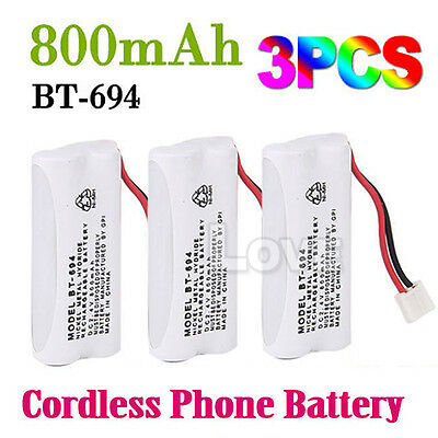 OZ J Cordless Phone Battery 3X For Uniden BT-694 BT-694S 2.4V 800MAH Ni-MH