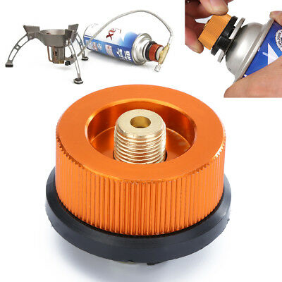 Outdoor Camping Hiking Burner Conversion Head Stove Connector Gas Bottle Adaptor