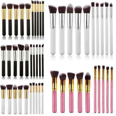 10Pcs Pro Make up Eyeshadow Blush Blending Set Cosmetic Concealer Lip Brush Tool