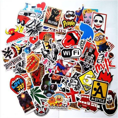 100X random vinyl decal graffiti sticker bomb laptop waterproof stickers skate