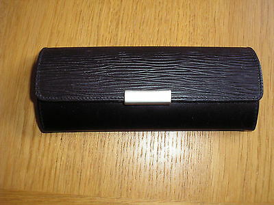 Hessler genuine leather button-closing spectacle case