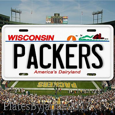 Green Bay Packers Wisconsin Aluminum Metal License Plate Tag NFC NFL New Cool